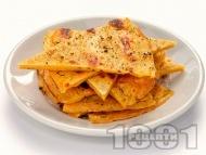 Лесни безглутенови палачинки / питки / хлебчета с брашно от нахут, зехтин, вода и сол на тиган